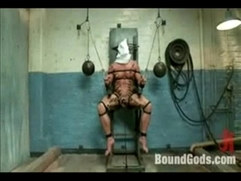 Nasty bondage hanging, submitted gay guys