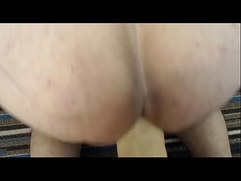 Ass Fuck session with a huge dildo