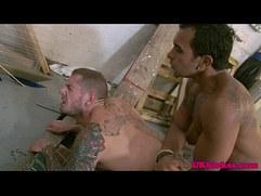 Tattood British poofers rimming and anal banging