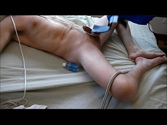 Bound Balls Machine Paddled to Hands Free Orgasm Ball Busting
