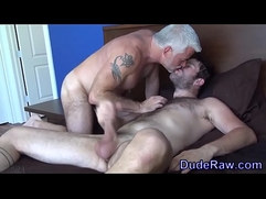 Silver fox fucks stud ass