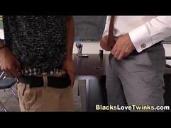 Black student rimming