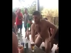 dared naked in public and friends throw away all his clothes
