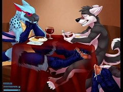 Gay Bird Giving Wolf Footjob Under Table - YIFF Jasonafex