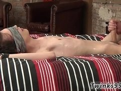 Cute young twinks bound for group sucking first time with a blindfold
