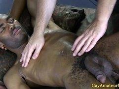 Straight black dudes steamy gay handjob