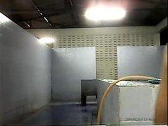 Thai army shower cam