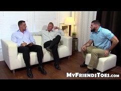 Johnny and Joey gets her feet worship from muscled Ricky