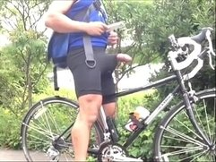 Hung Cock in Bike Man Hub