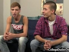 Twink video Jordan and Marco start things off with some kisses,