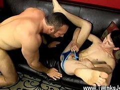 Gay movie The desperate tiny twink gets on his knees to deepthroat