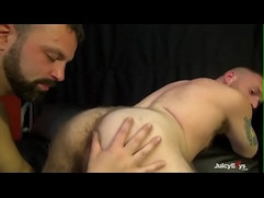 Hot hairy guy bareback