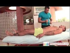 Tristan Mathews gets oiled and massaged by massagevictim
