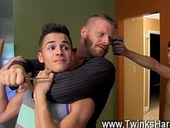 Gay men super models Andy Taylor, Ryker Madison, and Ian Levine were