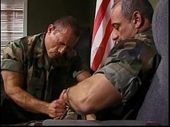 Army stud sucks fucks mature captains cock